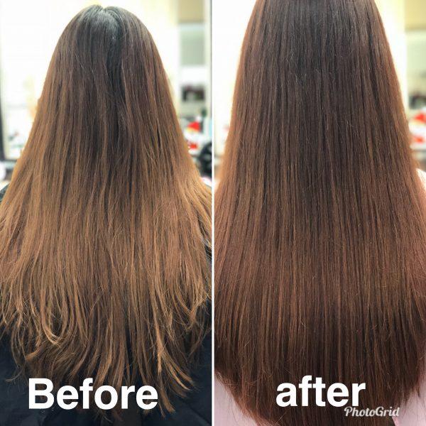 毛先のハネ まとまりが治る ヘアリセッター 髪質改善カット