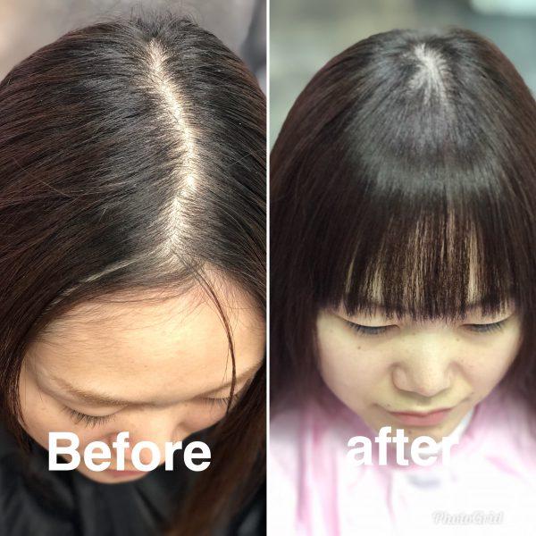前髪がぱっくり割れて前髪が作れない 前髪をおろして前髪を作りたい方にお勧めヘアリセッター