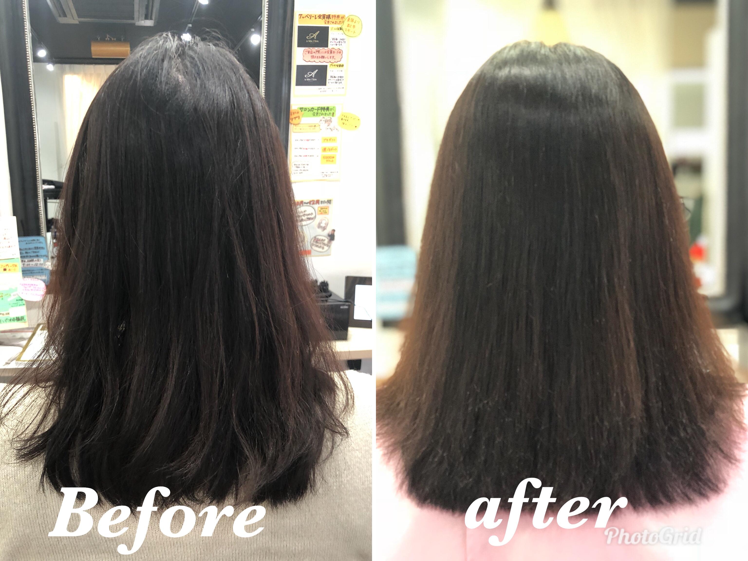 つむじの割れが解消して治る 後ろからの見た目で後頭部がふんわりする ヘアリセッター 髪質改善カット